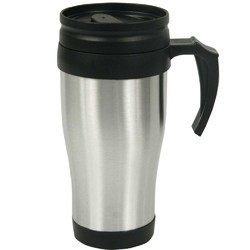 Sipper Outside Steel Inside Plastic Travel Mug