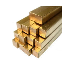Brass Square Rod, Material Grade: BSS-249 FREE CUTTING, Size: 6 MM TP 125 MM