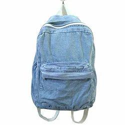 Plain Denim Backpack Bag