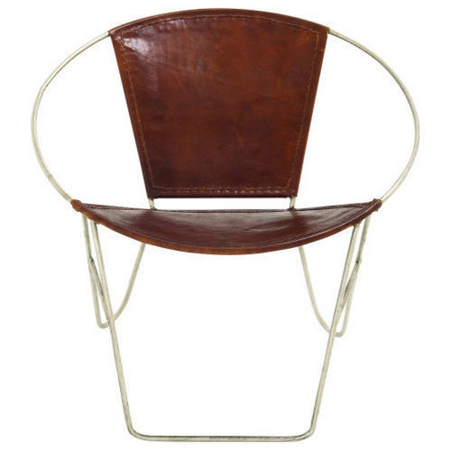Wonderful Round Leather Chair