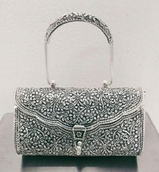 Printed Party Oxidized Purse