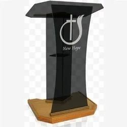Black Acrylic And Wooden Podium