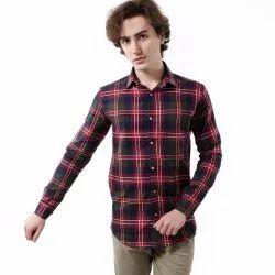 Camisa para color Loca casual rojo de de diseñador algodón Vida hombres a cuadros de 7R7xgC