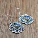 925 Sterling Silver Jewelry Natural Labradorite Gemstone Wholesale Earring We-6040