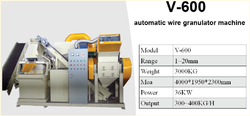V-600 Automatic Wire Granulator Machine