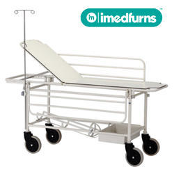 Stretcher Trolley w/ Side-rails, O2 Cage & I.V. Stand