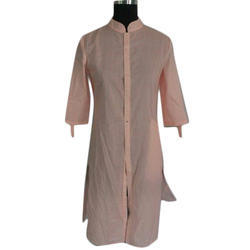 Ladies Button Down Long Tunic Top