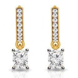 Buy certified diamond and yellow gold earrings