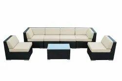 Carry Bird Black Wicker sofa set, for Home