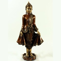 Capstona Brass Buddha Standing Idols
