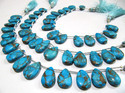 Sky Blue Oyster Turquoise Pear Shape  beads