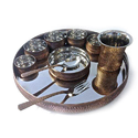 Copper Steel Rajwara Thali Set