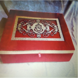 Red Wooden Decorative Box