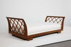 Aditya Furniture Brown,White Designer Wooden Sofa Couch, For Home