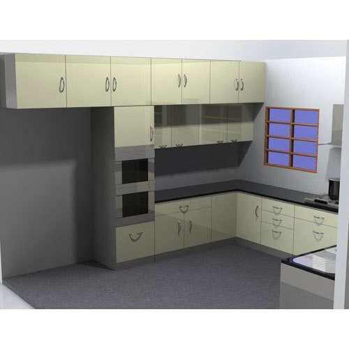 Steel L Shaped Simple Design Modular Kitchen For Home Rs 200000 Unit Id 19939247233