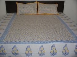 Touch Feel Hand Block Printed Bed Sheet Handblock Rapid Double Bedsheets, Size: 90 Inch X 108 Inch