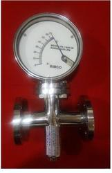 Metal Tube Rota Meter with Flanged End