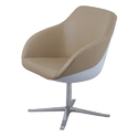 Beige Round Lounge And Designer Chair - Walter, For Hotel