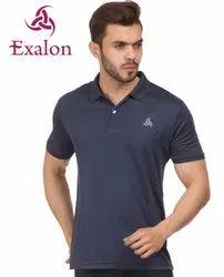 Exalon Navy Solid Men''s T-Shirt