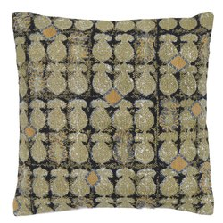 Embroidered Square Cotton Cushion Cover