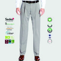 Oeko Tex Certified Mens Pleated Trousers