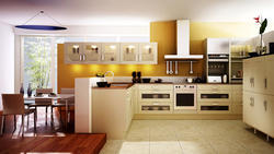 L Shaped Modern Kitchen