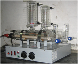 Borosilicate Glass Double Distillation Unit