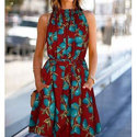 Floral Printed One Piece Dress