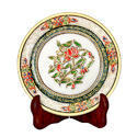 Marble Plates with Flower Print