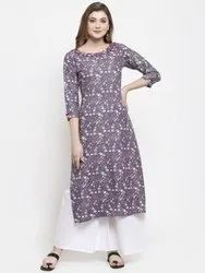 Branded Ladies Rayon Designer Kurti