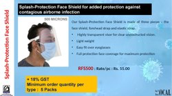 Splash-Protection Face Shield