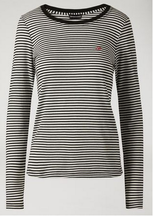 cd753b6956 EMPORIO ARMANI Striped Next Striped Sweater With Embroidered Logo ...