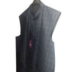 Men's Check Waist Coat