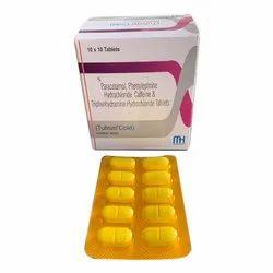 Paracetamol Phenylephrine Hydrochloride Caffeine And Diphenhydramine Hydrochloride Tablets