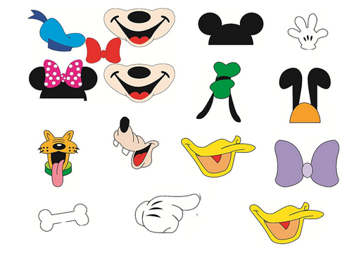 Disney Mickey Birthday B''day Party Props Photo Booth