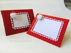 Square Shagun Envelope With White Pearls