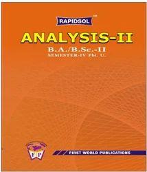 Analysis II Pbi U BSc Taxt Book Series