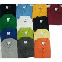 Half Sleeves Mens Plain Collar T Shirt, Size: S, M, L, Xl