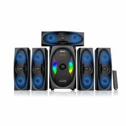 OSSYWUD Black And Blue OS 5.1 5800 MUF BT Multimedia Speaker, Size: 6.5 Inch