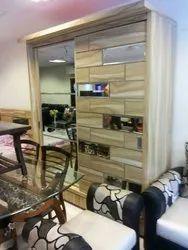 Sliding Door Teak Wooden Wardrobe for Hotel