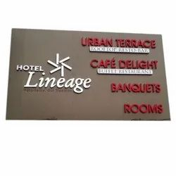 Led Rectangle Wall Mounted Acrylic Sign Board
