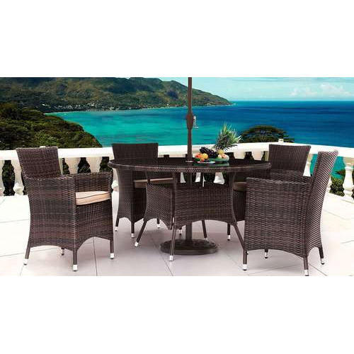4 Seater Wicker Table And Chair Sets, Warranty: 2 Year