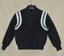 Solid Black Varsity Jacket