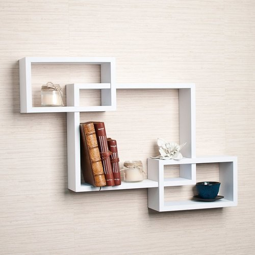 White Woodworld Intersecting Storage Wall Shelves Rack Rs 1705