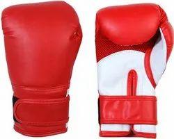 PU红色拳击手套,尺寸:满