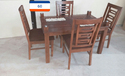 Woodline Creation Standard Height Wooden Dinning Table Manufacturer, For Home / Hotel