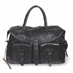 Black Luggage Leather Bag
