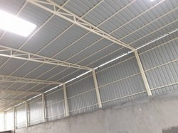 Colour Coated as require Prefab Tubular Structure Shed, for Construction, Maharashtra