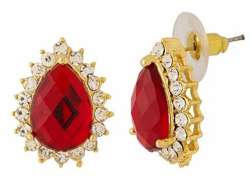 Voylla gold polish red crystal pendant set at rs 264 pair voylla gold polish red crystal pendant set aloadofball Gallery