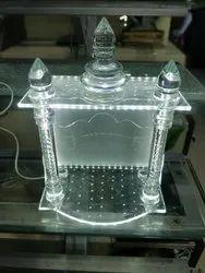 9.5 kg Transparent Dome Mandir